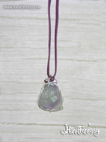 Colgante Fluorita, Piedra preciosa colores, Colgantes de Fluorita, Collar Fluorita