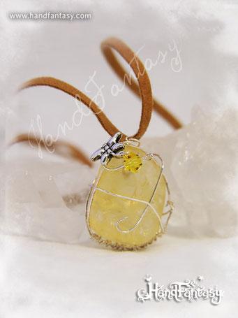 Colgante Citrino, Piedra amarilla, Colgantes de Cuarzo citrino, Colgantes de Citrino, piedra de Citrino, Collar de Citrino