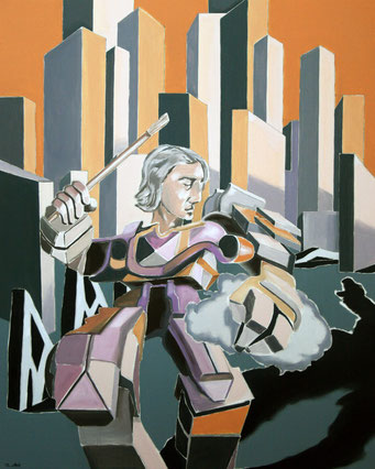 Selbstbildnis, 2018, Öl auf Leinwand, 75 x 60 cm