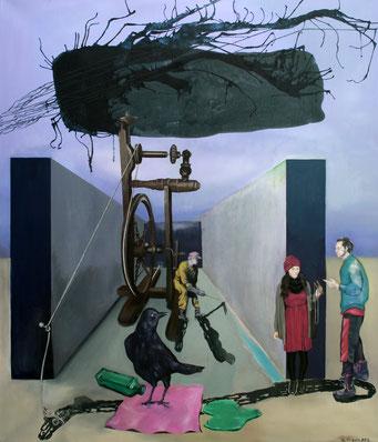 Versuchung, 2016, Öl auf Leinwand, 140 x 120 cm