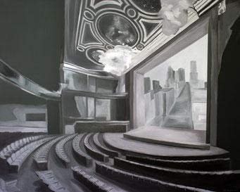 Aufführung, 2017, Öl auf Leinwand, 120 x 150 cm