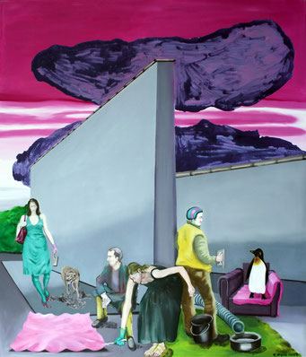 Indifferent, 2016, Öl auf Leinwand, 140 x 120 cm