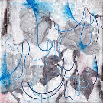 Transfert d'un sentiment d'une idée confuse #3 _ Acrylique sur toile 20X20, 2014.