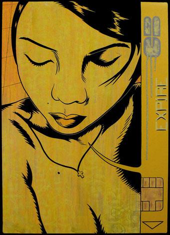 Expire _ Acrylique sur toile 70X50 cm, 2010. (vendu)