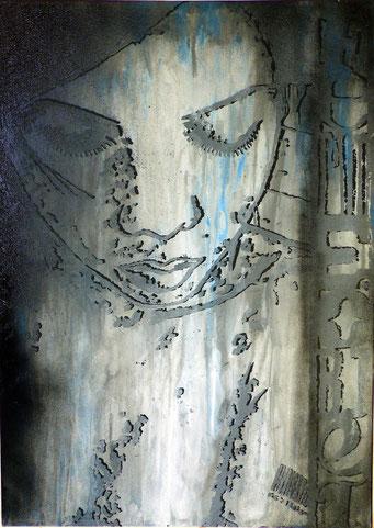 Femmes objets _ Acrylique sur toile 70X50cm, 2010. (vendu)