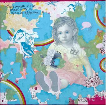 Manon _ Acrylique sur toile 40X40cm, 2010. (commande)