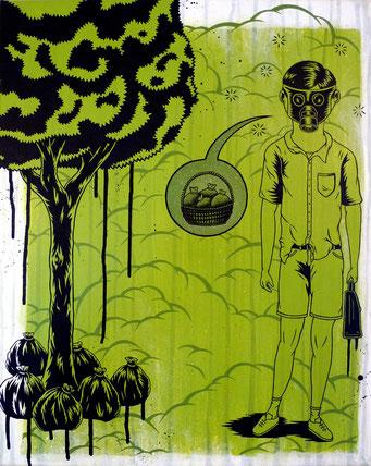 à l'absurde 02 _ Acrylique sur toile 50X40 cm, 2010. (vendu)