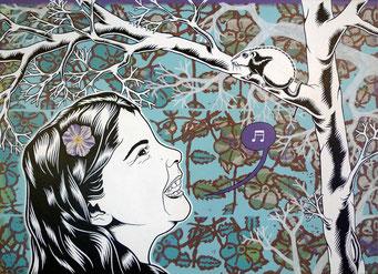 Basma _ Acrylique sur toile 50X70cm, 2010. (vendu)