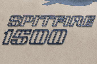 The Spitfire 1500 hood lettering add authenticity to the drawing that will please owners of this car