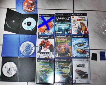 Art.1.064 Playstation 2 Spieli, linke Seite evtl PS1 Spieli, neue Hülle ,je 5chf