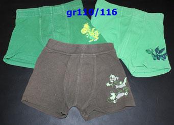 Art.1.6.078 Boxershorts ,untere gr116, zusammen 5chf
