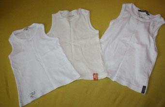 art.1.15.778 gr 92 vertbaudet rechte gr98/104 H&M unterhemden oder ärmelose Shirts, zusammen 6chf mittlere leicht creme farbig