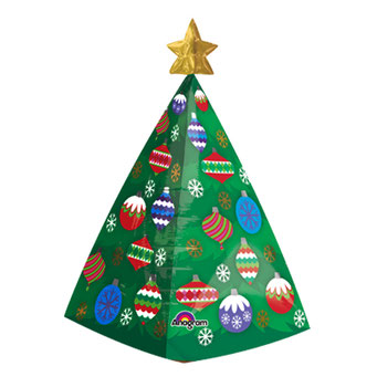 3Dクリスマスツリーウィズスター31397 38×73㎝