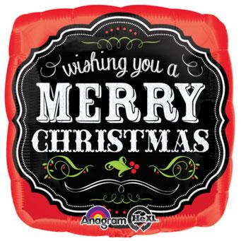 メリークリスマスチョークボード29391 43㎝