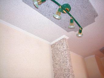 Schlafzimmer, Wohnzimmer, ausmalen, Flüssigtapete, Baumwollputz, Raumgestaltung, wärmedämmend, schallschluckend