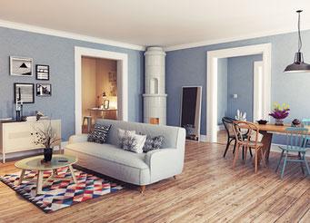 Büro, Wohnzimmer, Flüssigtapete, Baumwollputz, Raumgestaltung, wärmedämmend, schallschluckend