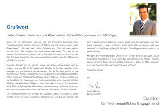 Ehrenamtskalender 2016 vom FWZ Bad Nauheim, Blücherstr. 23/www.fwz-badnauheim.de: Grußwort von Bürgermeister ARMIN HÄUSER