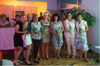 Ladiesfirst Hamm Clubgeburtstag und Neueröffnung Rosen fuer die Damen