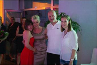 Ladiesfirst Hamm Clubgeburtstag und Neueröffnung Kirsten Bruennich und Familie