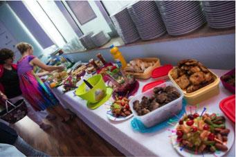 Ladiesfirst Hamm Clubgeburtstag und Neueröffnung leckeres Buffet