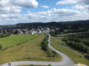 Ferienwohnung Schanzenblick - Hausansicht von der St. Georg- Schanze