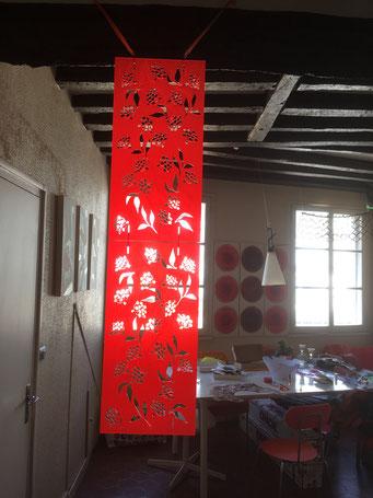 MODULE PARAVENT SUSPENDU SUREAU// 30x60 cm sur commande, couleur au choix-120€TTC