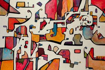 Terrain de jeux 2015 Acrylique sur toile 130 x 195cm