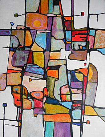 L'inconnu 2015 Acrylique sur toile 116 x 89cm