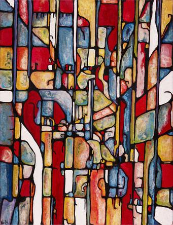 Chateau de Bosc 2016  Acrylique sur toile 116x89cm