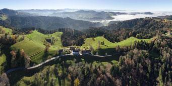 Blick vom Höchstock gegen Süden; ganz links im Bild das Hörnli.