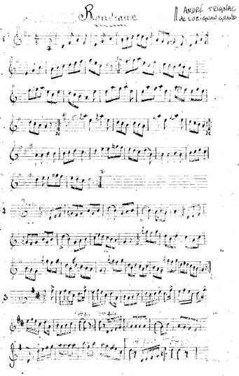 Cahier de partitions original ; André Trignac.