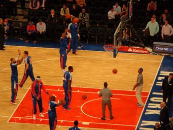Match de Basket avec l'équipe des Knicks de NY