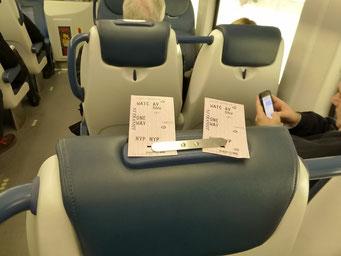 Ticketkontrolle im Zug