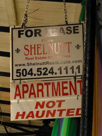 New Orleans - man kann wählen zwischen Wohnungen in denen es spukt oder nicht spukt