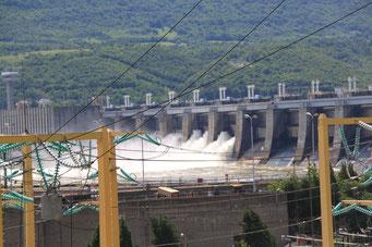 Damm zwischen Serbien und Rumänien