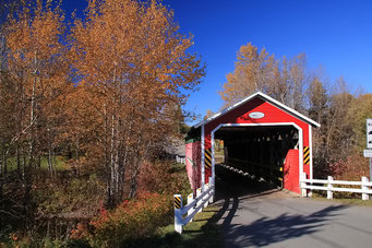 Holzbrücke, Gaspesie Halbinsel, Québec