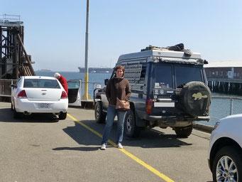 Warten auf die Fähre nach Vancouver Island
