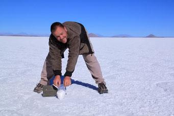 Salar de Uyuni - Salzschürfen...