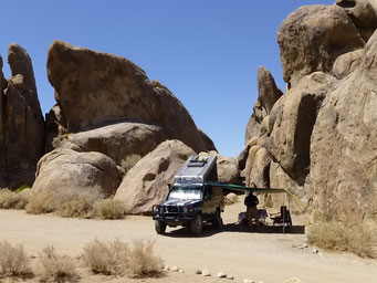 Camp in den Alabama Hills