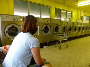 Laundromat, Wäsche waschen auf Amerikanisch