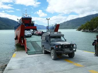 Rückwärts einparken auf Fähre