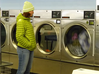 Schön warm in der Wäscherei