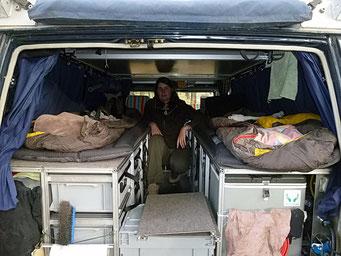 Unser City-Center Übernachtungstest, ohne Klappdach zu öffnen