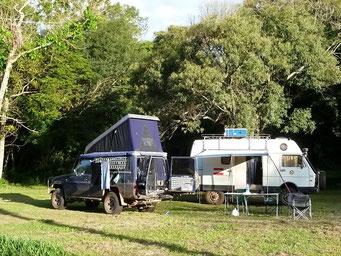 Camping im Refugio Biologico Tati Yupi