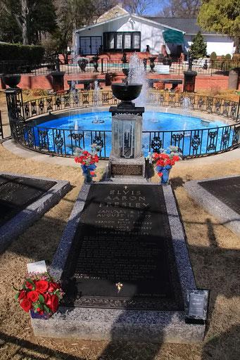 Familiengrab der Presley's, Granceland, Memphis