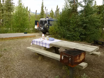 Camping in Coldfoot, Dalton Highway, Alaska