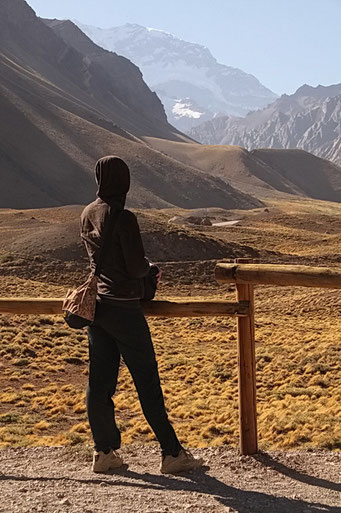 Da hoch würde es zum Aconcagua gehen