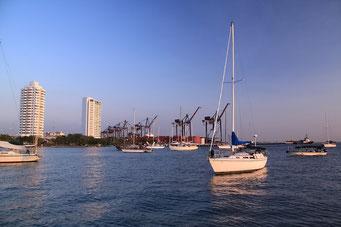 Unser Boot im Hafen von Cartagena
