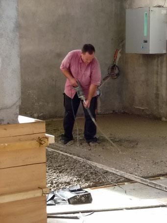 ... betonieren