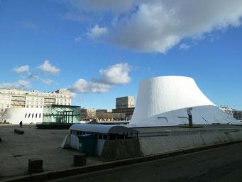 """Le vulcan"", das Kultur-Centrum von LeHavre"